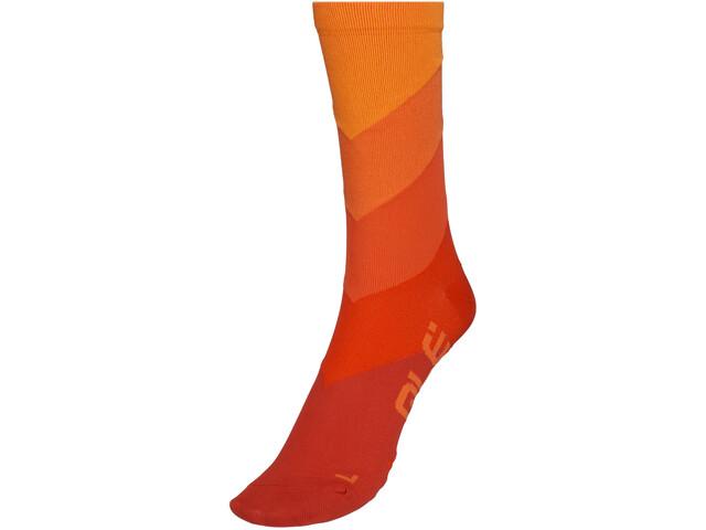 Alé Cycling Diagonal Digitopress Q-Skin Socks 16cm Men red